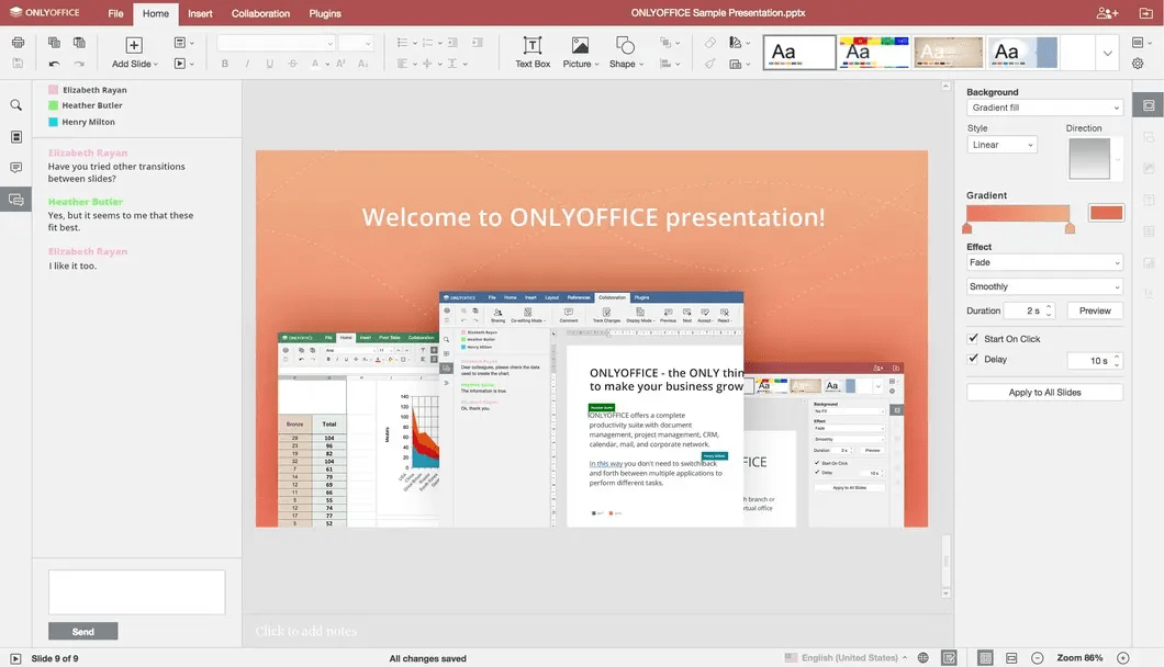 OnlyOffice alternativa a Power Point
